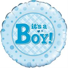 "It's a Boy Baby Shower 18"" Foil 