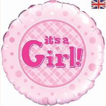 "It's a Girl Baby Shower 18"" Foil 