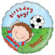 "Football Birthday Boy 18"" Foil 
