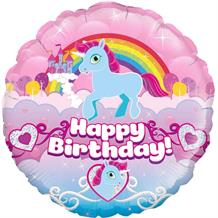 "Unicorn Rainbow Happy Birthday 18"" Foil 