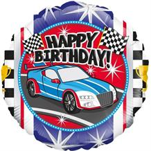 "Racing Car Happy Birthday 18"" Foil 