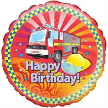 "Fire Engine Happy Birthday 18"" Foil 