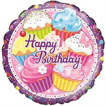 "Cupcake Happy Birthday 18"" Foil 