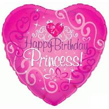 "Happy Birthday Princess 18"" Foil 