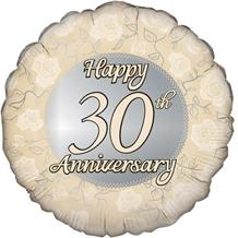 "Happy 30th Anniversary Pearl 18"" Foil 