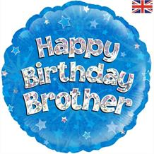 "Happy Birthday Brother Blue 18"" Foil 
