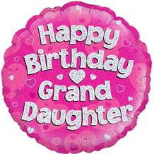 "Happy Birthday Grandaughter Pink 18"" Foil 