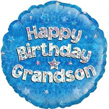 "Happy Birthday Grandson Blue 18"" Foil 