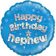 "Happy Birthday Nephew Blue 18"" Foil 