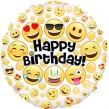 "Emoji Happy Birthday 18"" Foil 