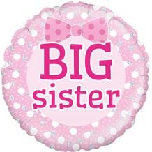 "Big Sister | Baby Shower 18"" Foil 