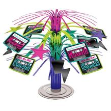 1980's Rad Party Cascade Table Centrepiece | Decoration