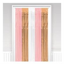 Rose Gold Blush Party Door Curtain Decoration