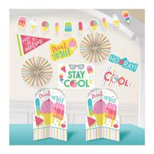 Just Chillin Ice Cream Party Room Decorating Kit