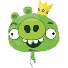 Angry Birds Green Pig Shaped Foil | Helium Balloon