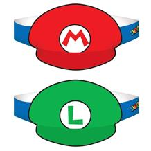 Super Mario Bros. Card Party Favour Hats