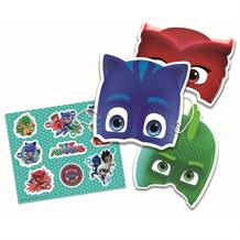 PJ Masks Party Favour Face Masks and Sticker Pack