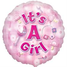 "It's a Baby Girl 18"" Foil 