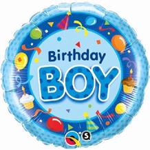 "Blue Birthday Boy 18"" Foil 