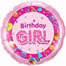"Pink Birthday Girl 18"" Foil 