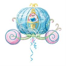 Cinderella Carriage Shaped Foil | Helium Balloon
