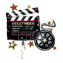 Hollywood Clapboard Shaped Foil | Helium Balloon
