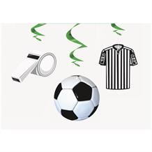 3D Soccer | Football Party Hanging Swirl Decorations