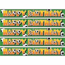 3D Football Happy Birthday Foil Banner | Decoration
