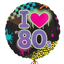 "I Love the 1980's 18"" Foil 