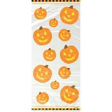Halloween Pumpkin Party Cello Loot Favour Bags