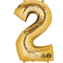 "Anagram Gold 35"" Number 2 Supershape Foil 