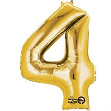 "Anagram Gold 35"" Number 4 Supershape Foil 