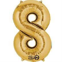 "Anagram Gold 35"" Number 8 Supershape Foil 