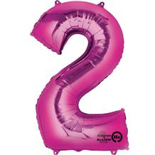 "Anagram Pink 35"" Number 2 Supershape Foil 