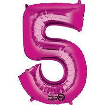"Anagram Pink 35"" Number 5 Supershape Foil 