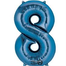 "Anagram Blue 35"" Number 8 Supershape Foil 