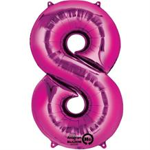 "Anagram Pink 35"" Number 8 Supershape Foil 