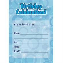 Blue Glitz | Birthday Party Invitations | Invites