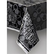 Black Glitz Party Tablecover | Tablecloth