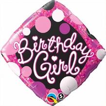 "Pink Diamond Birthday Girl 18"" Foil 