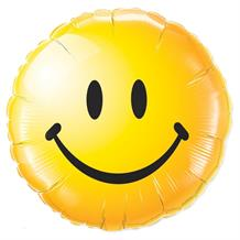 "Yellow Smiley Face 18"" Foil 