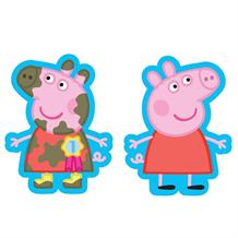 Peppa Pig Muddy Shaped Foil | Helium Balloon