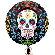 Day of the Dead Halloween Party Foil | Helium Party Balloon