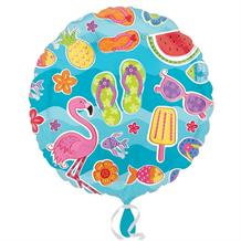 "Summer Fun | Flamingo | Flip Flop 18"" Foil 