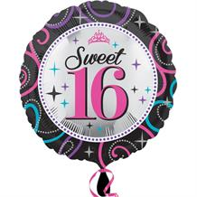 Sweet 16 Sparkle Foil| Helium Balloon