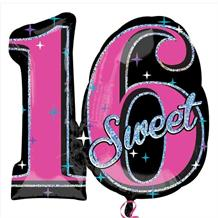 Sweet 16 Shaped Foil | Helium Balloon