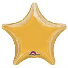 "Gold Metallic Star Shaped 18"" Foil 