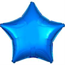 "Blue Metallic Star 18"" Foil 
