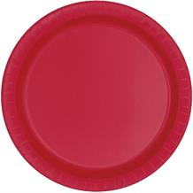 Red Party Cake Plates