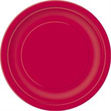 Ruby Red Party Plates
